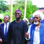 Disun Holloway, Gov. Fashola and Prof. Wole Soyinka