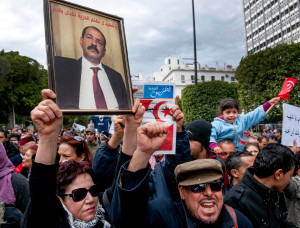 Image: Anti-Ennahda Protest - Tunis