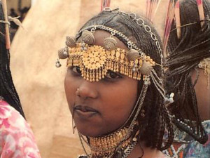 A Saho lady in traditional decor