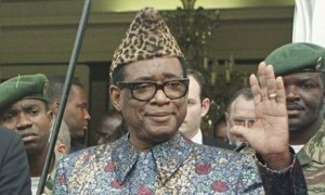 Mobutu Sese Seko pictured in Kinshasa a month before he was overthrown in 1997