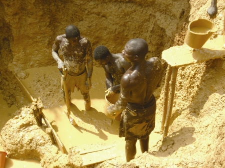 Illegal mining for gold is commonplace in parts of Ghana