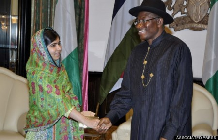 Malala Yousafzi and Goodluck Jonathan