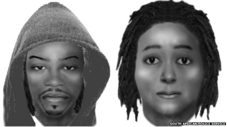 An image of the two suspects has been released by South African Police
