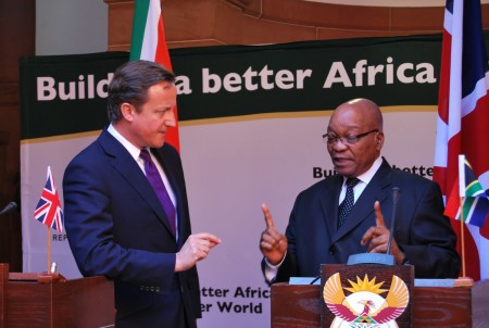 Zuma cancelled his UK visit after Cameron declined to meet with him