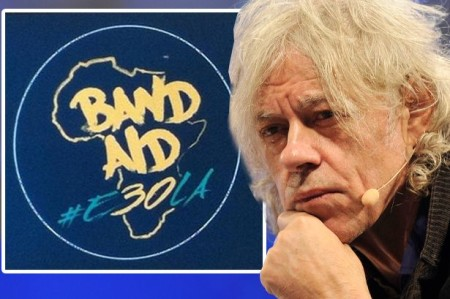 Bob Geldof launches the Band Aid 30 logo