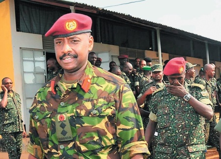 President Yoweri Museveni denies grooming his son Muhoozi Kainerugaba (pictured) to be his successor