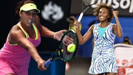 Madison Keys (left) rallied to overcome Venus Williams (right), who won her first Grand Slam when her opponent five years old.