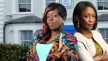 Kim and Denise (played by Tameka Empson and Diane Parish), twoo of only a few ethnic minority characters on Eastenders