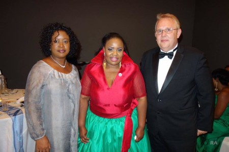 Theodora Ibekwe – Oyebade, President of Actors Guild UK Nollywood with some of the special guests.