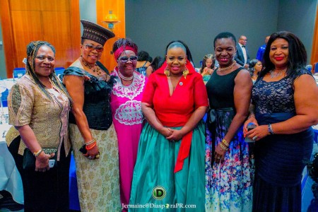 Theodora Ibekwe – Oyebade, President of Actors Guild UK Nollywood with ace broadcaster Julie Coker, Princess Deun Solarin TV Presenter, Kate Anolue Former Mayor of Enfield and other VIP guests