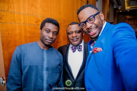 Dr. Alistair Soyode Chairman BEN TV, Deacon Charles Sylvester Group Managing Director of Express Group of Companies and Jermaine Sanwoolu Financial Protection Adviser and Photographer