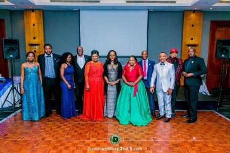Actors Guild UK Nollywood Executives: From left, Riyike Alayande, Olukunle Fafowora, Ene Oloye, Ayo Oyebade, Helen Gold, Mrs Olufolake Abdulrasak (Matron), Theodora Ibekwe – Oyebade (President), Godwin Osabutey, Malcolm Benson, Danny Erskine and Ruke Amata.