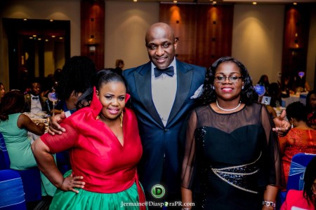Theodora Ibekwe – Oyebade, President of Actors Guild UK Nollywood with Babatunde Loye, Chairman Central Association of Nigerians in the UK (CANUK) and Ronke Adeagbo Treasurer (CANUK)