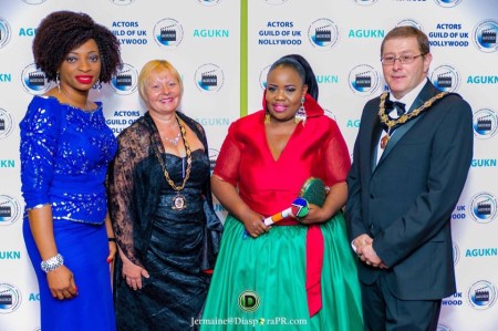 Cordelia Emeh, His Worshipful Cllr. Milan Milovanovic Mayor of Great Dunmow Council & Consort with Theodora Ibekwe – Oyebade, President of Actors Guild UK Nollywood